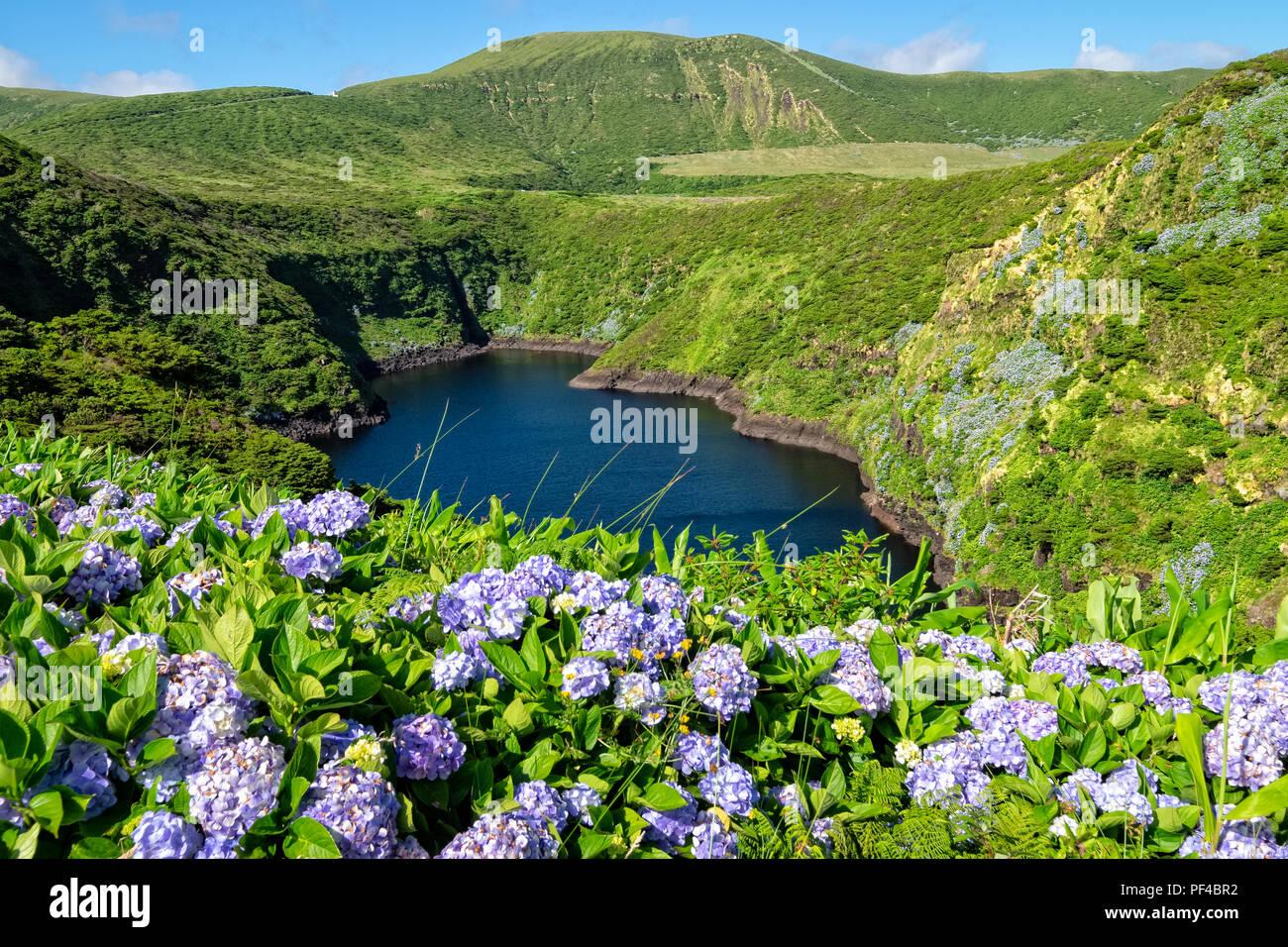 Lagoa Comprida - Azores Islands Stock Photo