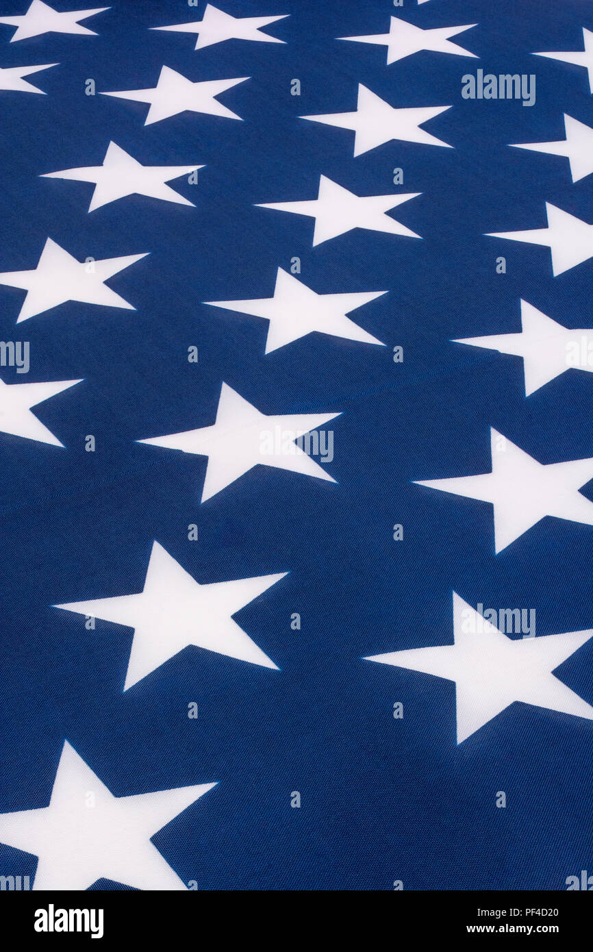 Close-up U.S / American 'Stars and Stripes' stars. Concept of U.S Midterms, US elections, American Presidential elections, American / U.S Patriotism. Stock Photo