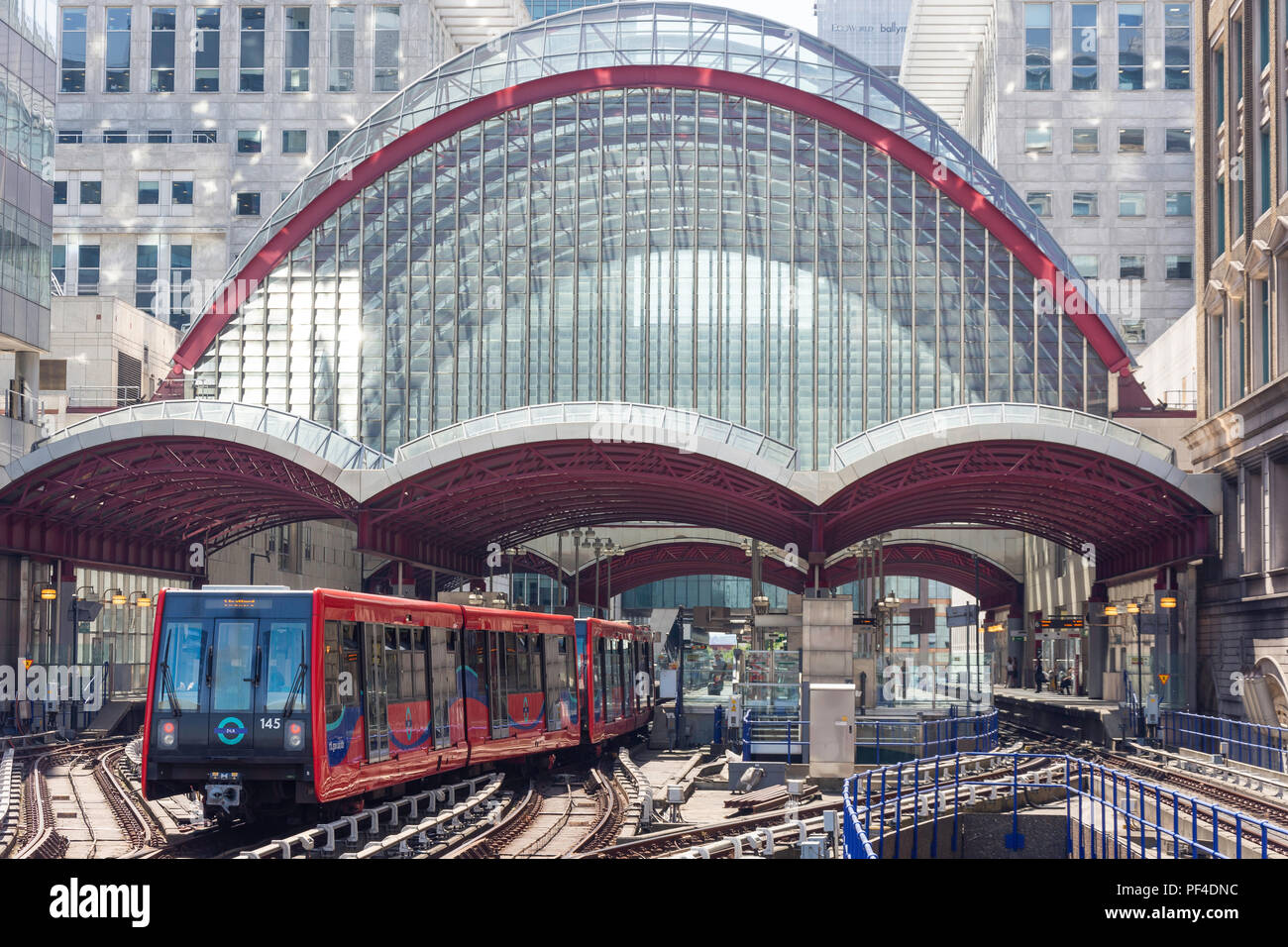 Canary Wharf DLR station, Canary Wharf, London Borough of Tower Hamlets, Greater London, England, United Kingdom - Stock Image