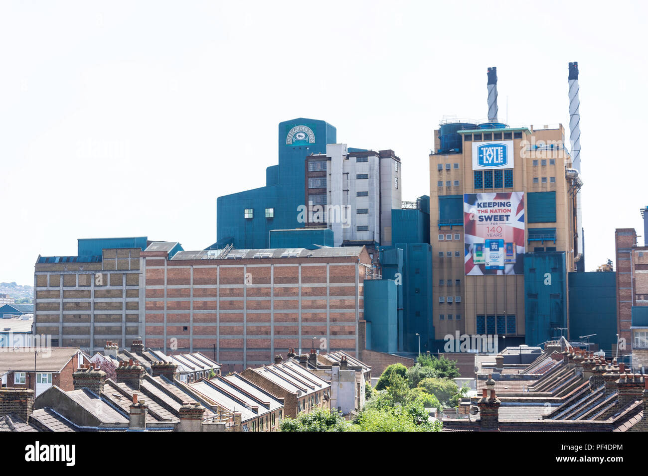Tate & Lyle sugar factory, Silvertown, London Borough of Newham, Greater London, England, United Kingdom - Stock Image