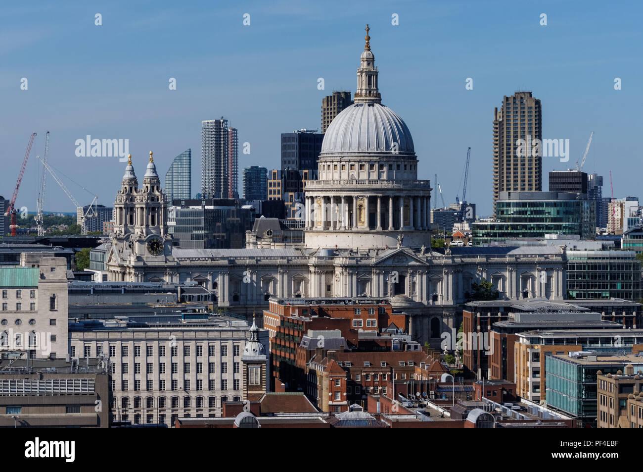 St. Paul's Cathedral, London England United Kingdom UK Stock Photo