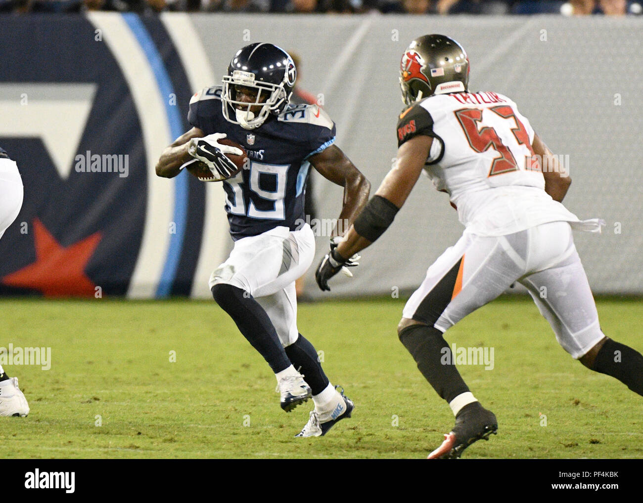 cheap for discount 699a6 73f03 Nashville, USA. 18 August 2018. Tennessee Titans running ...