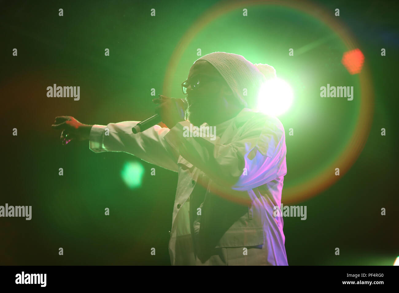 91e6acef0 Jamaican reggae singer Andrew Tosh sings at the Beachstage of the
