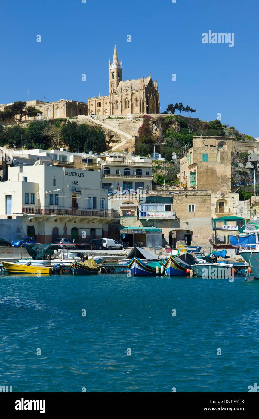 Gozo Harbour Mġarr, Gozo Malta - Stock Image