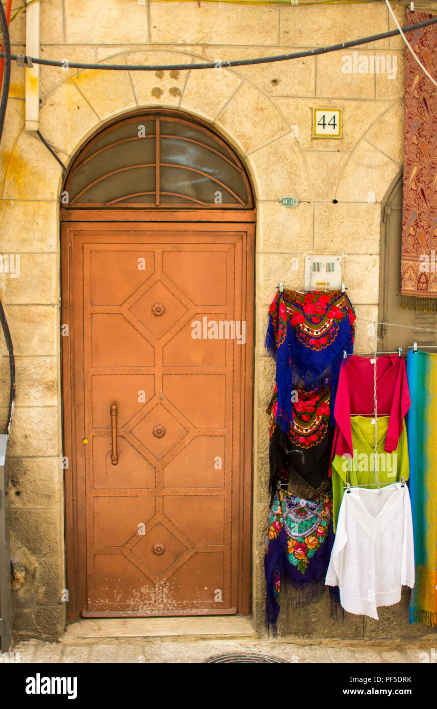 10 May 2018 An Old Steel Door To An Ancient Building In The Arab