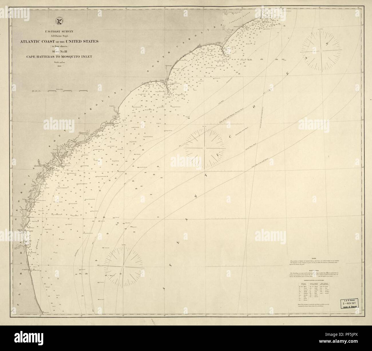 Atlantic coast of the United States (in four sheets) - sheet no. III
