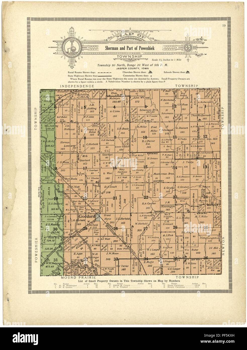 Jasper County Iowa Map.Atlas And Plat Book Of Jasper County Iowa Containing Outline Map