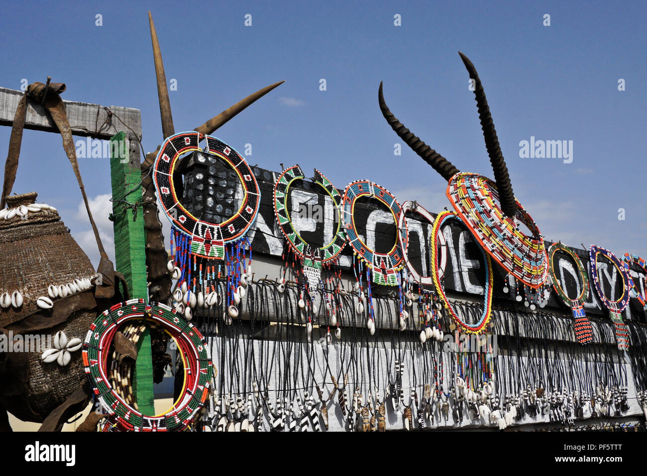 Samburu Handicrafts And Gazelle Horns For Sale At Samburu Buffalo