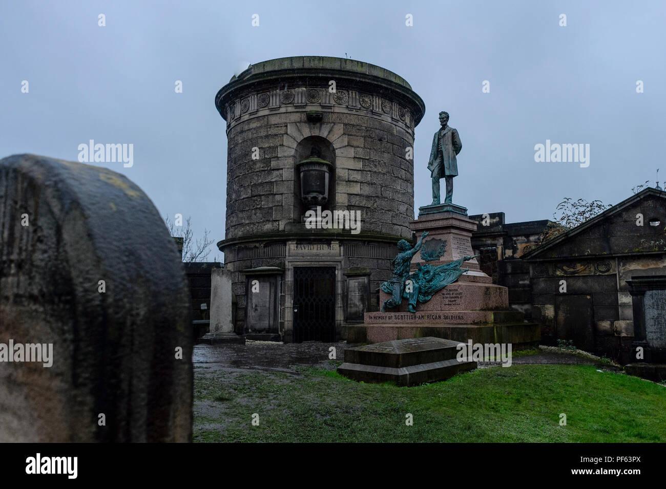 Old Calton burial ground, Edinburgh Stock Photo