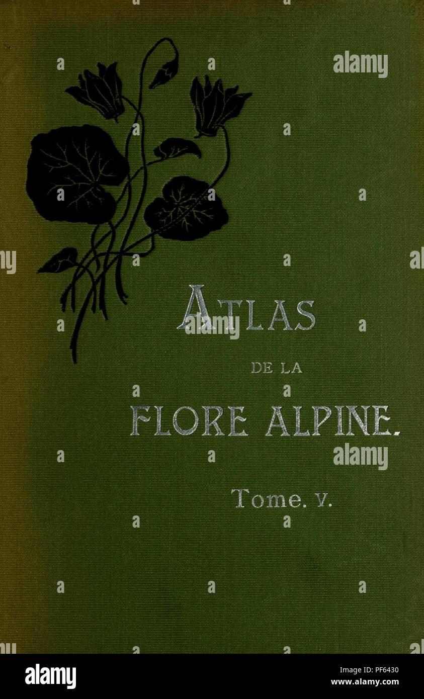 Atlas de la flora alpine Stock Photo