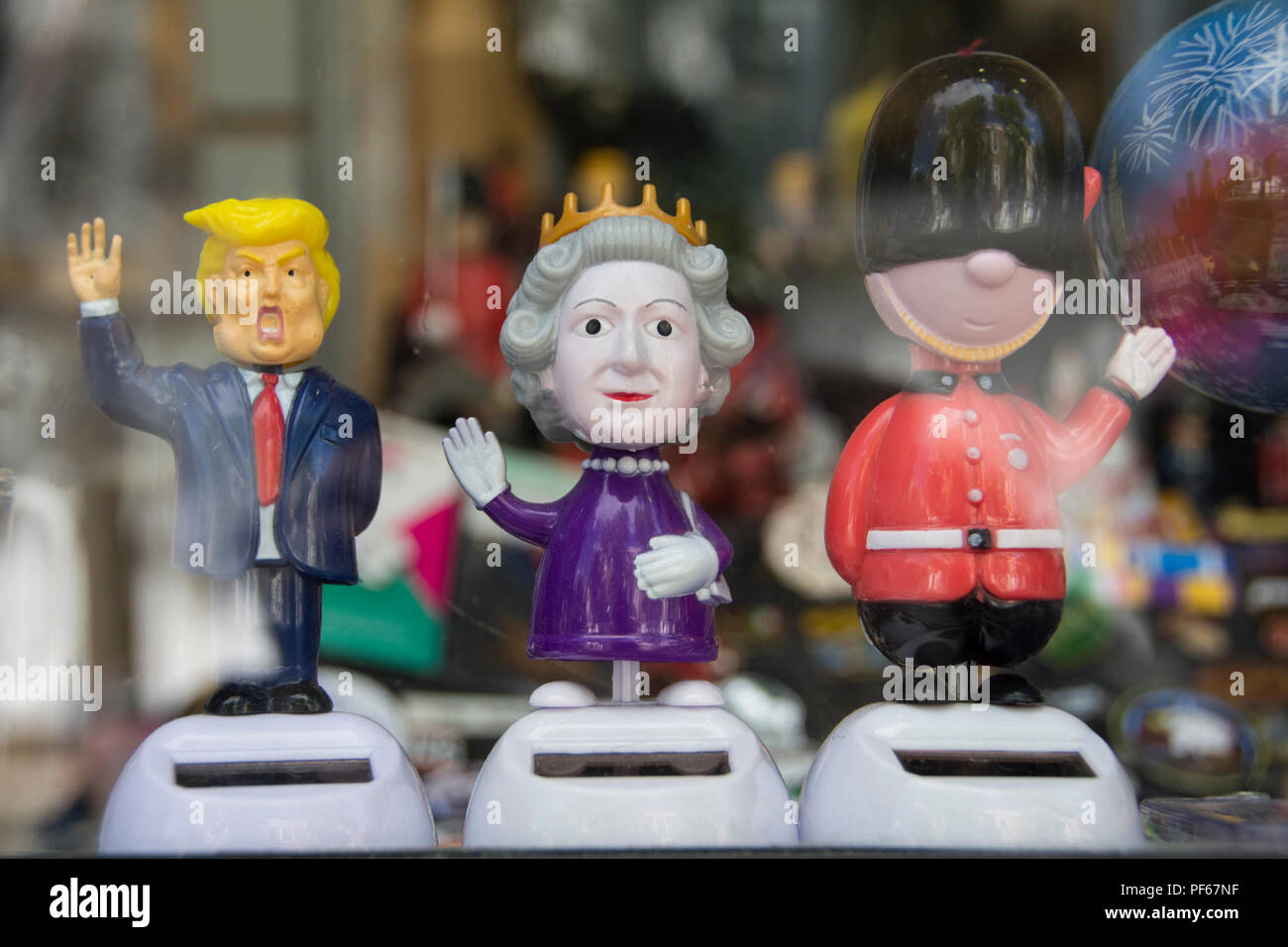Did President Donald Trump's visit to the UK breach Royal Protocol when he met Queen Elizabeth 11? - Stock Image