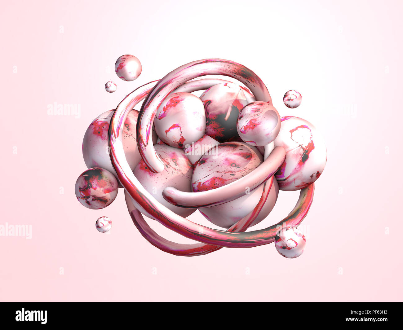 3d render space element  Fantasy abstract art object Stock