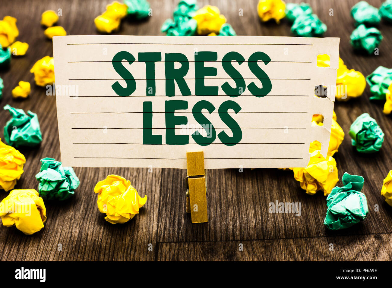 Text Sign Showing Stress Less. Conceptual Photo Stay Away