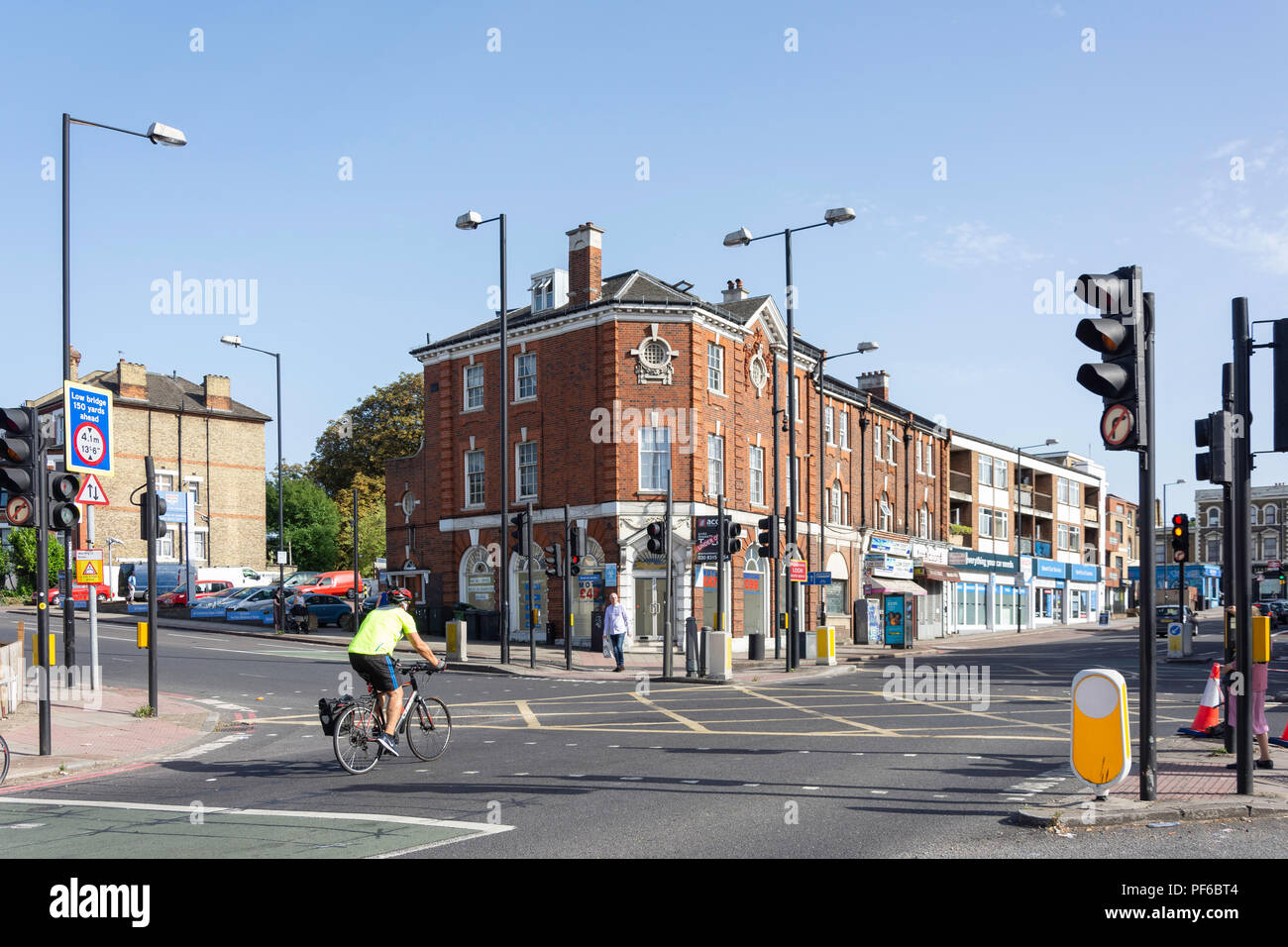 Junction of South Circular Road and Norwood Road, Tulse Hill, London Borough of Lambeth, Greater London, England, United Kingdom - Stock Image