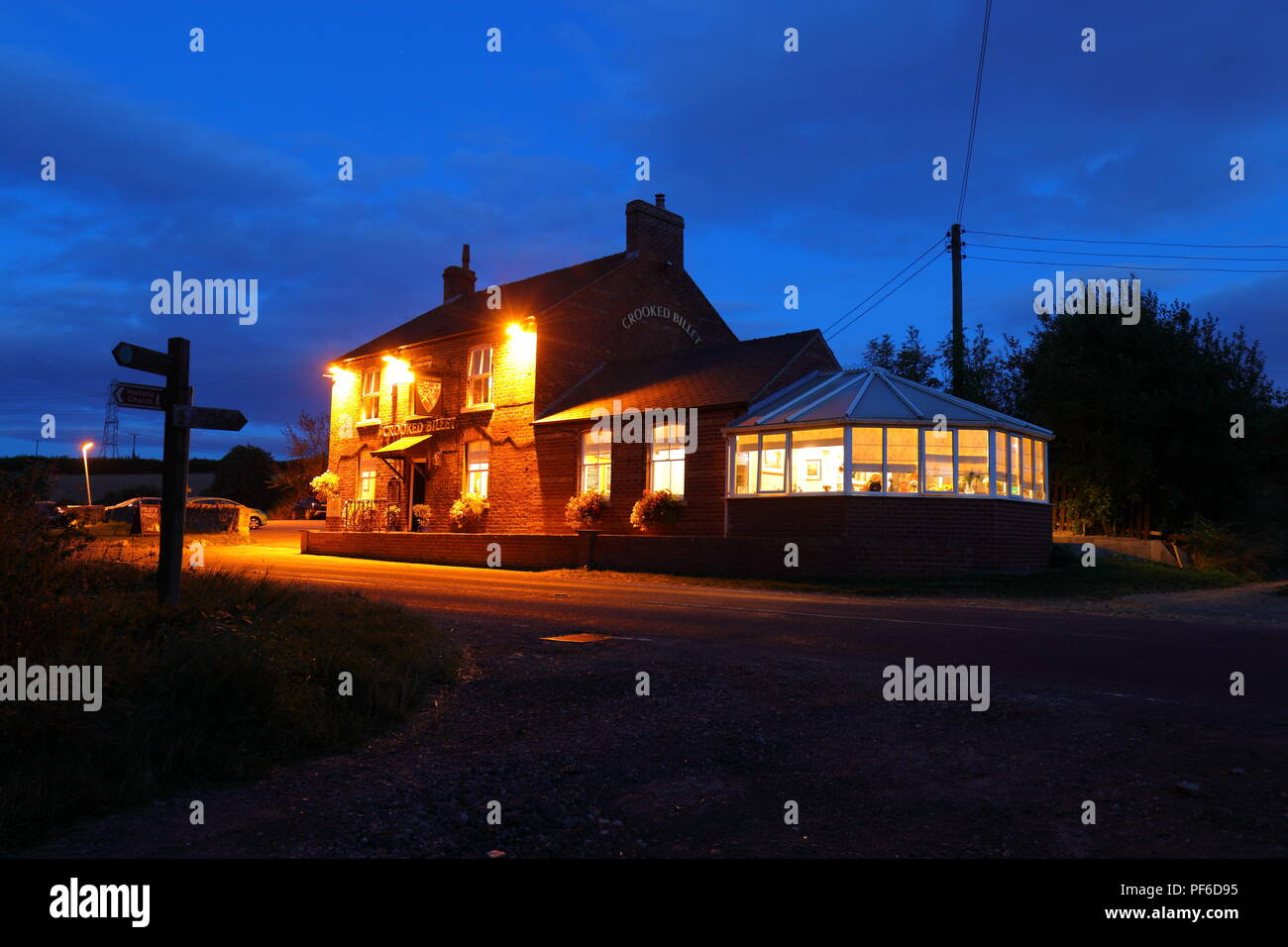 The Crooked Billet near Tadcaster - Stock Image
