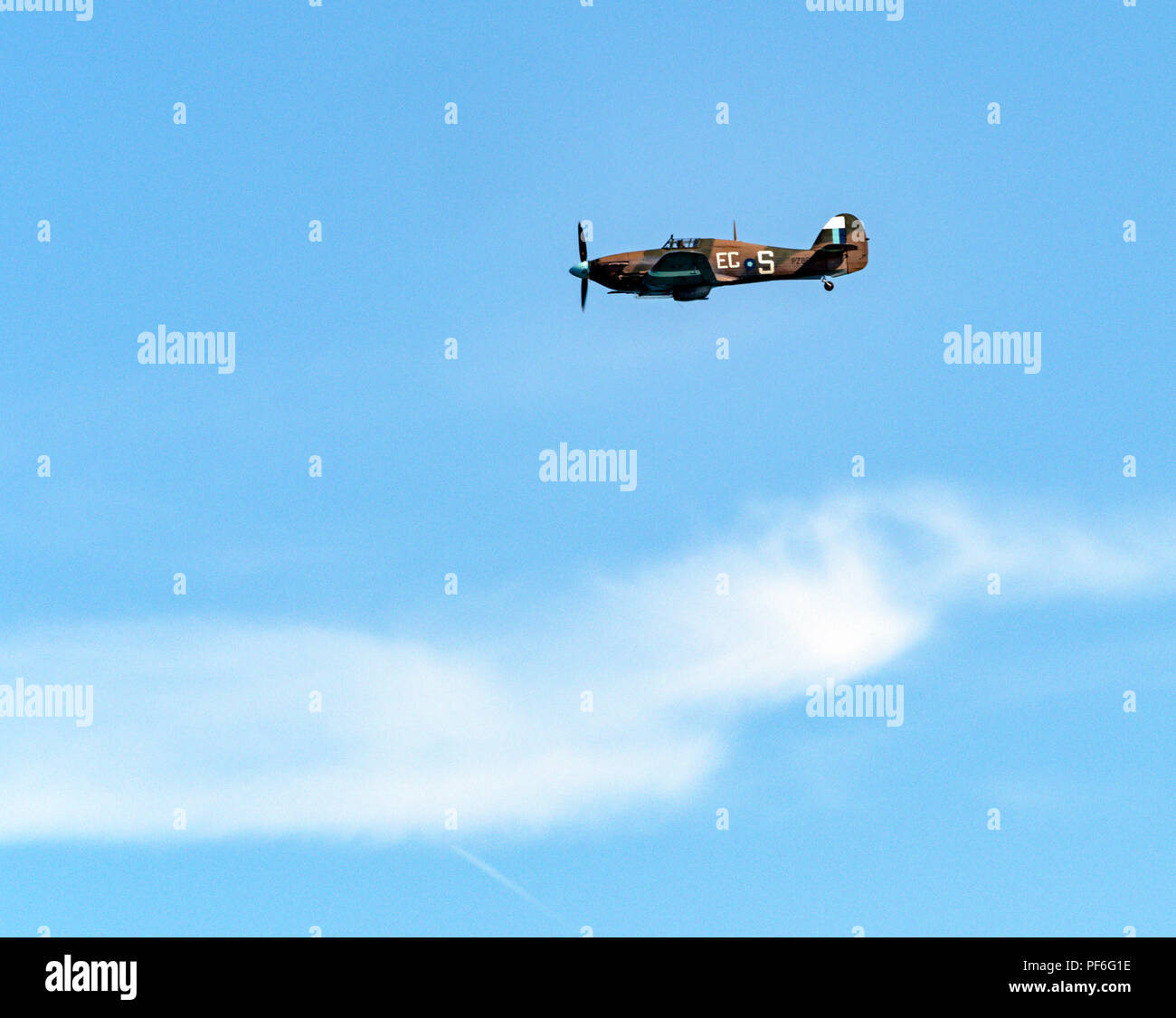 Hurricane fighter of the Battle of Britain Memorial Flight, Eastbourne Airshow 2018 - Stock Image