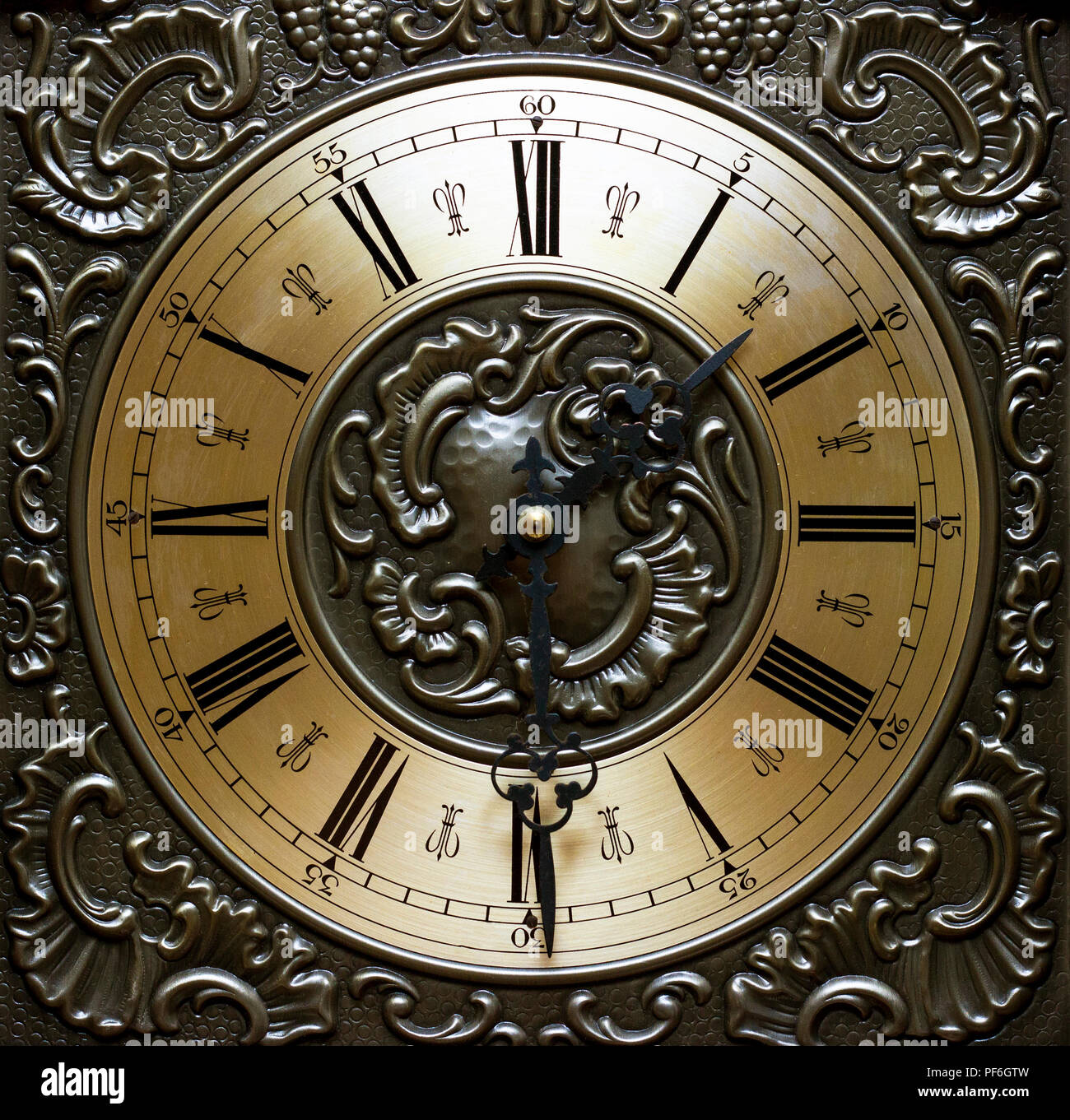 Time Concept Old Clock Watch Dial Stock Photo 215889209