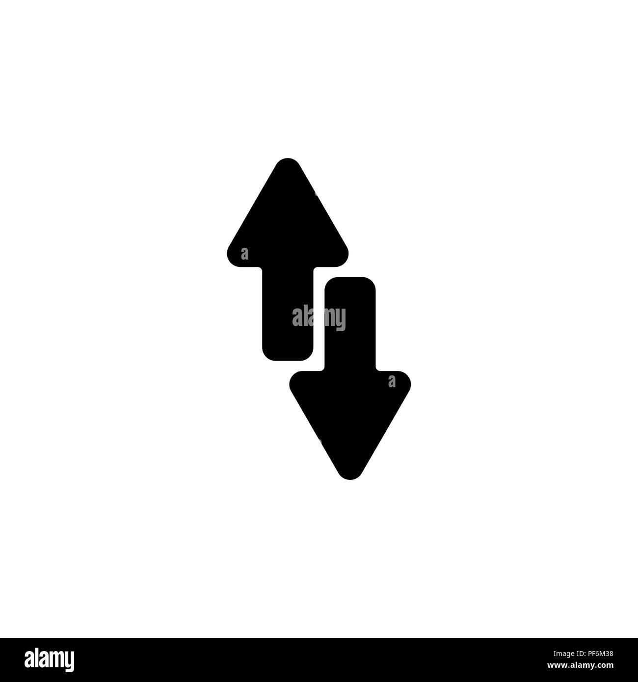 Black arrow pointing upward cut out stock images pictures alamy arrows up down black on white background stock image altavistaventures Gallery
