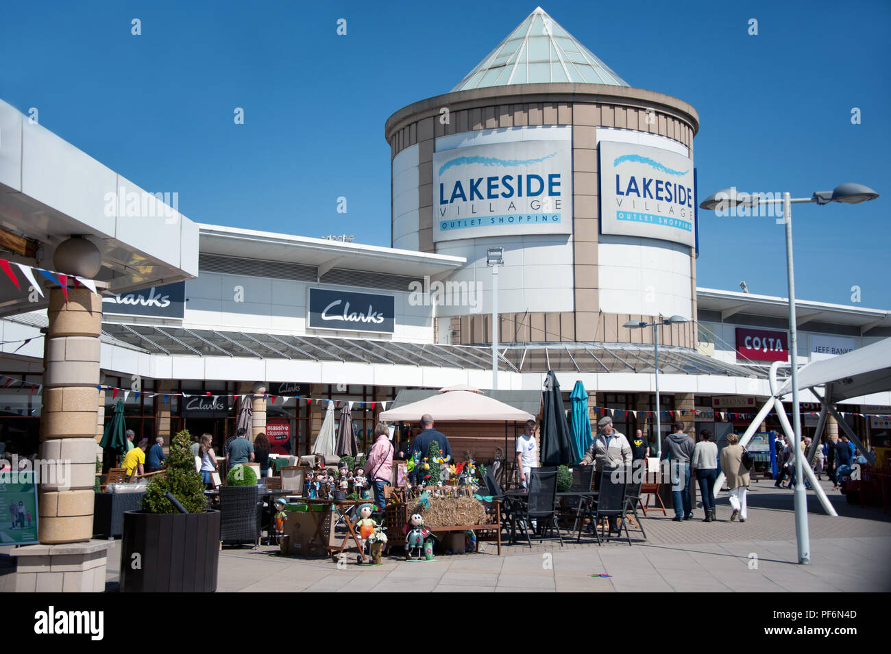 5a45054cf Lakeside Village Outlet Shopping in Doncaster Soiuth Yorkshire UK - Stock  Image