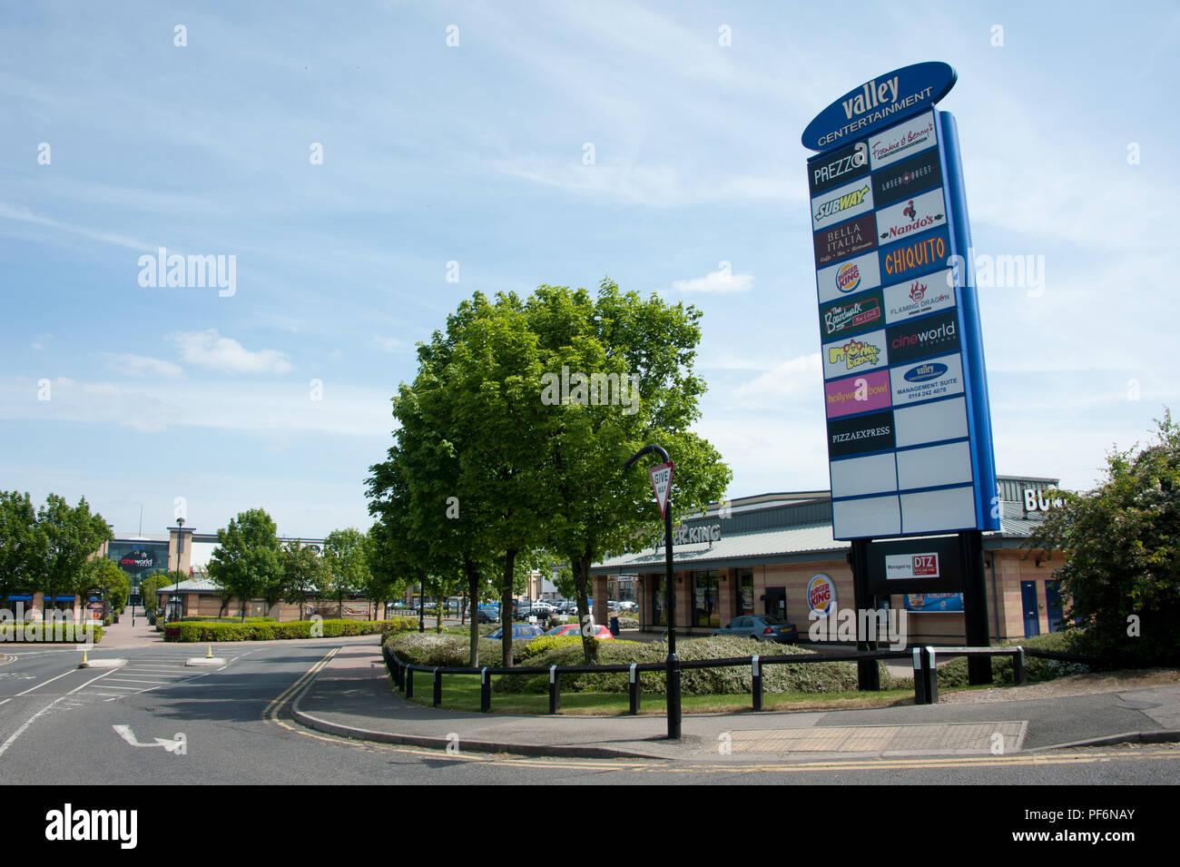 Sheffield Cineworld Cinemas Complex Near Sheffield