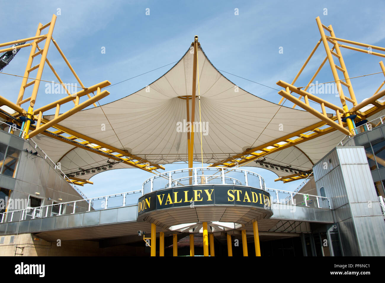 The Don Valley Sports Stadium in Sheffield in all its glory was demolished in 2013 - Stock Image