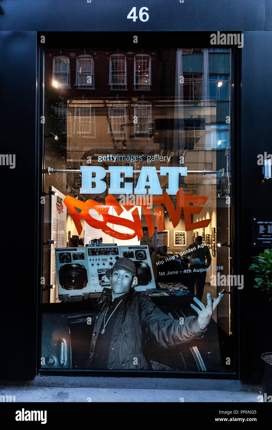Getty Images gallery shop window, London, England, UK. - Stock Image