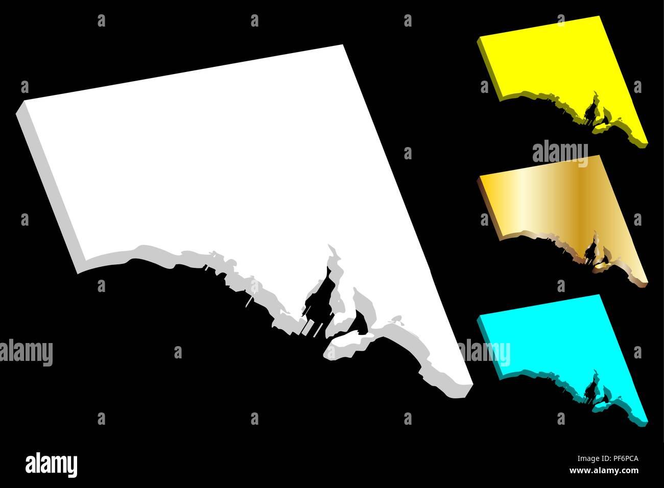 3d Map Of South Australia.3d Map Of South Australia Australian States And Territories Sa