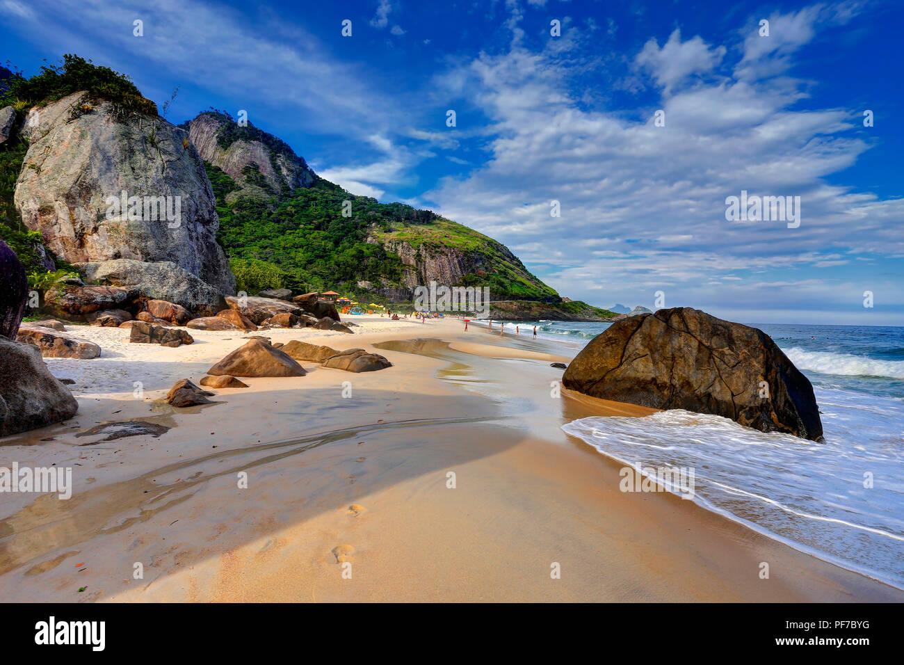 Prainha, Rio de Janeiros Most Beautiful Beach, Rio de Janeiro, Brazil - Stock Image