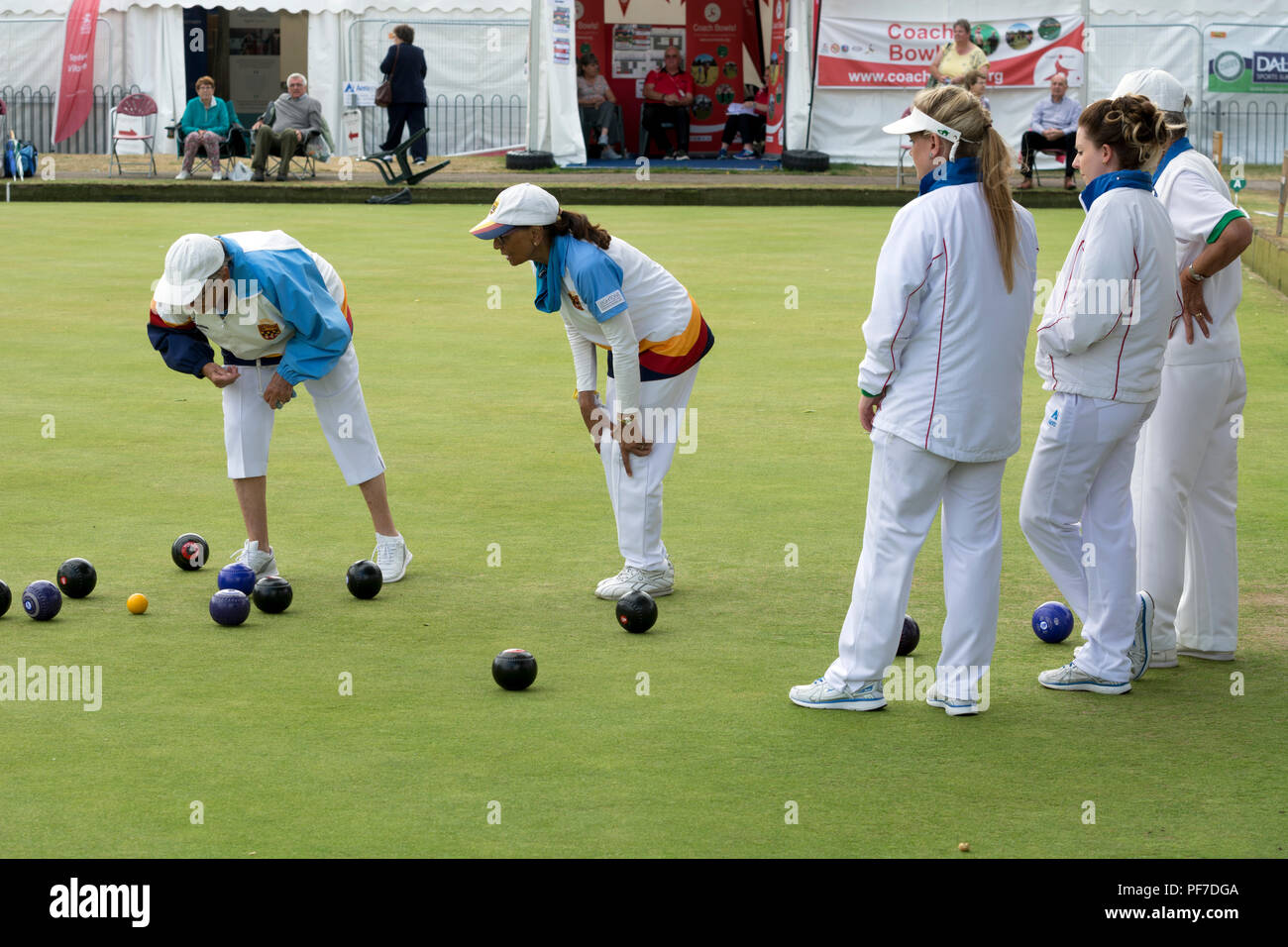 The national women`s lawn bowls championships, Leamington Spa, UK - Stock Image