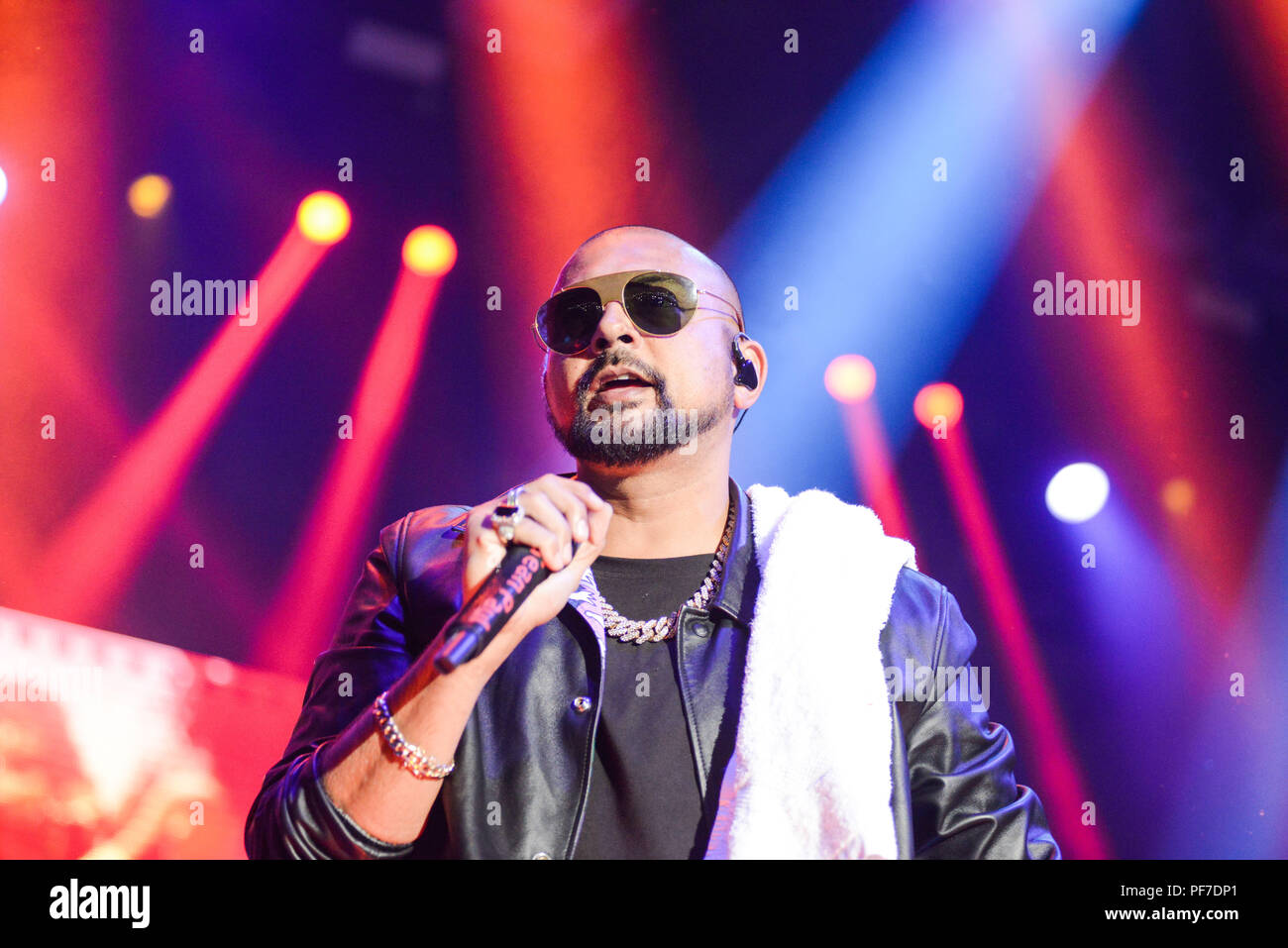 Sean Paul performing at the Ricoh Arena Coventry on 19th