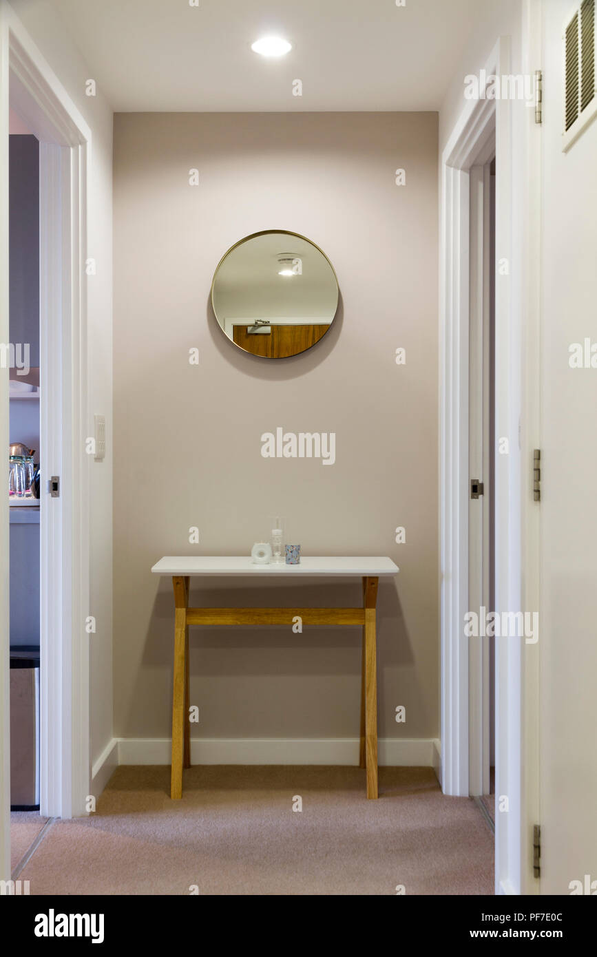 Audrey Whelan designed hall in small London flat - Stock Image
