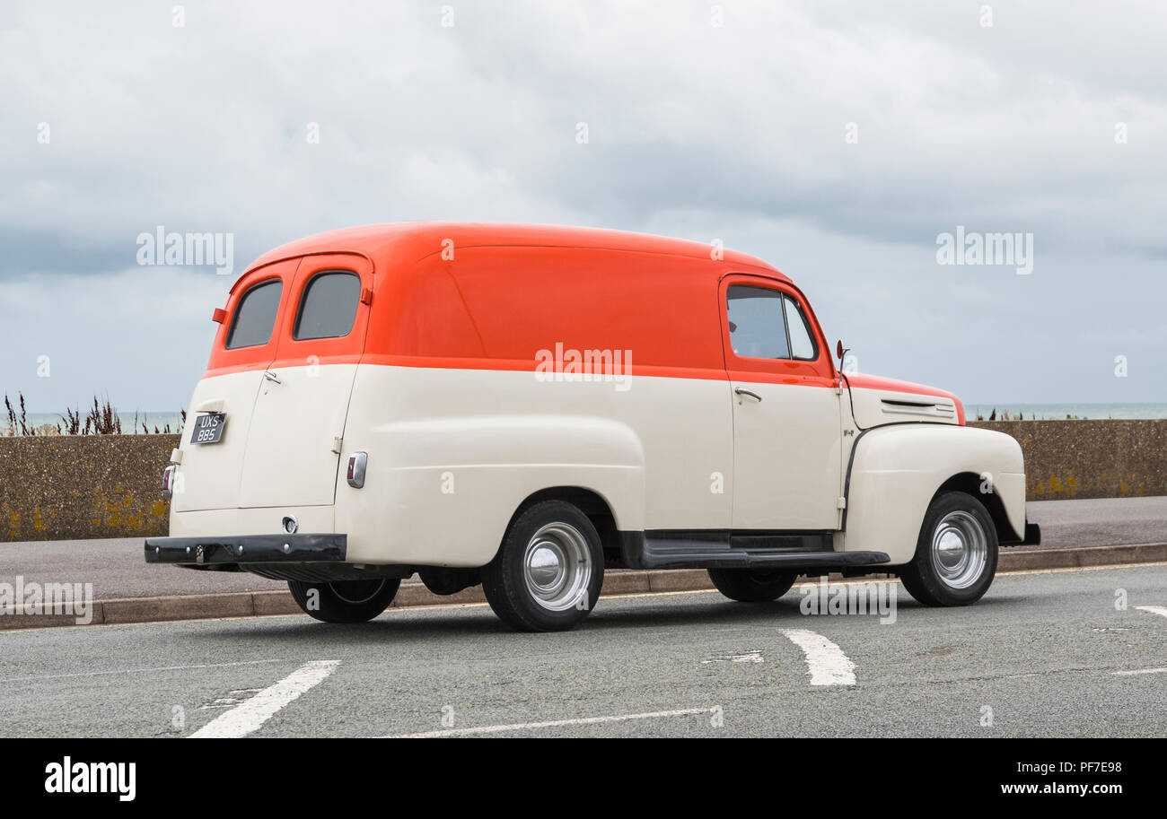 Imported 1948 Ford F1 / F100 Panel Van in the UK. - Stock Image
