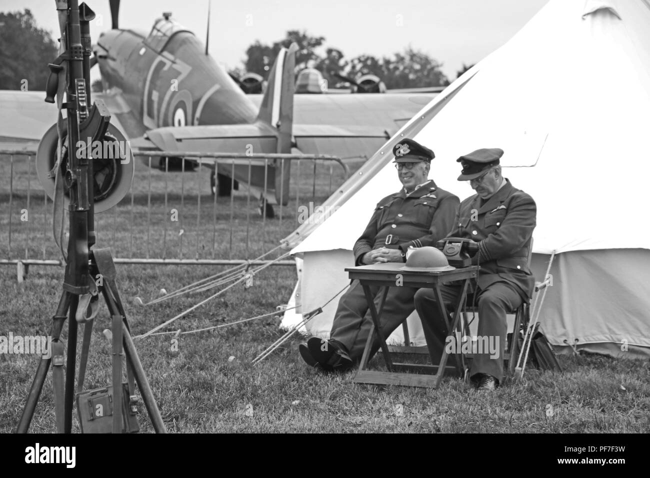 WW2 RAF Airman. - Stock Image