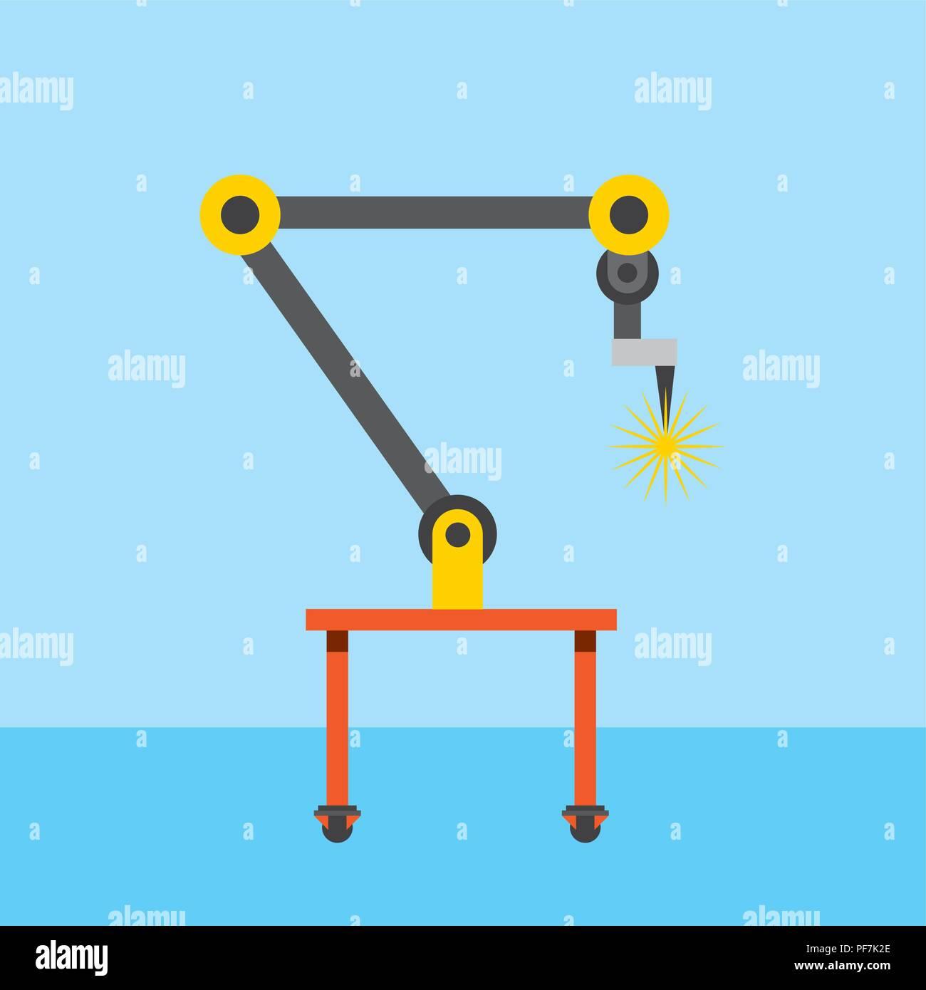 industrial welding robotic arm for automotive industry - Stock Image