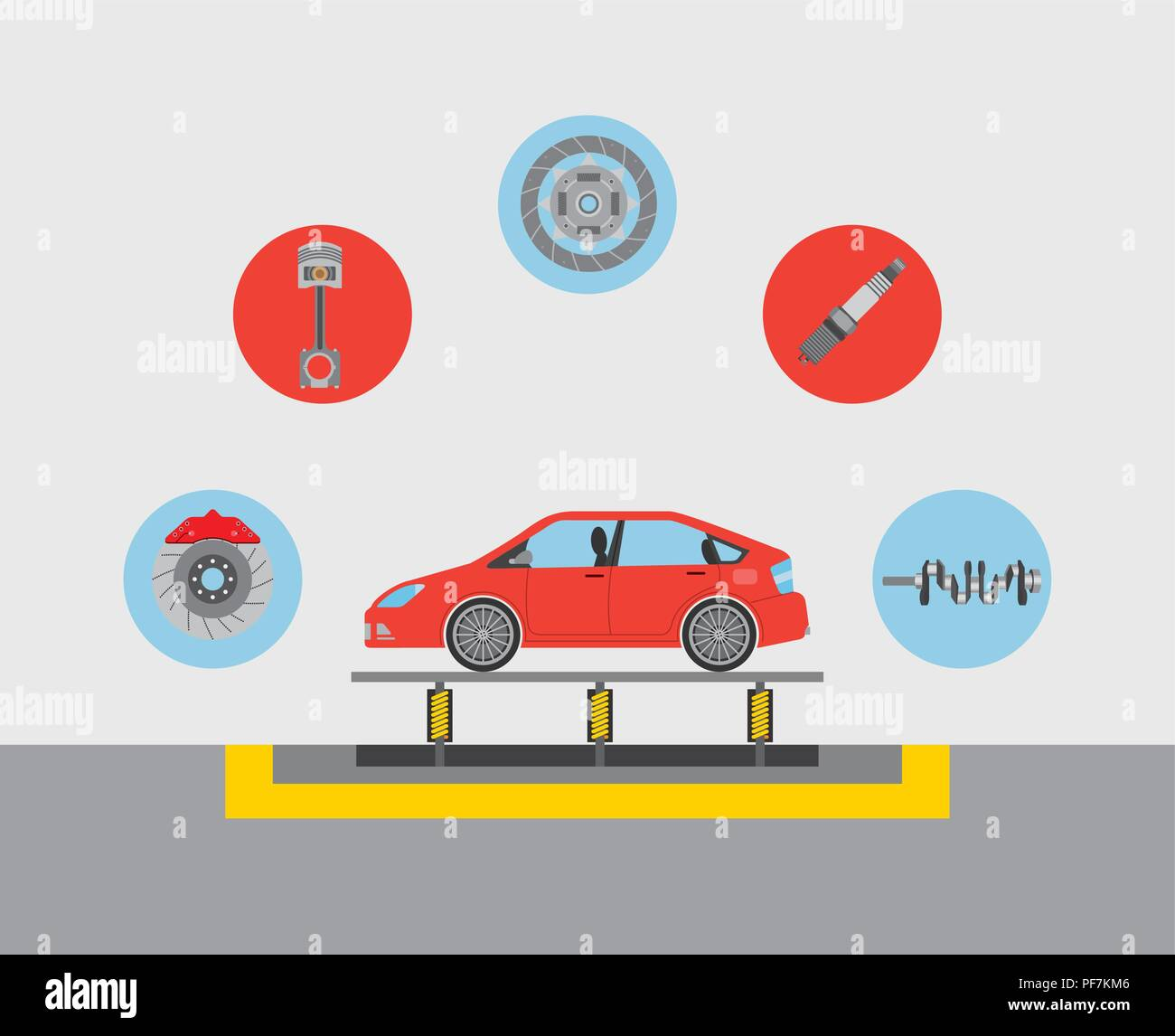 automotive industry car production conveyor spare parts - Stock Image