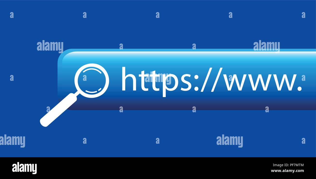 https search website blue background vector illustration EPS10 - Stock Vector