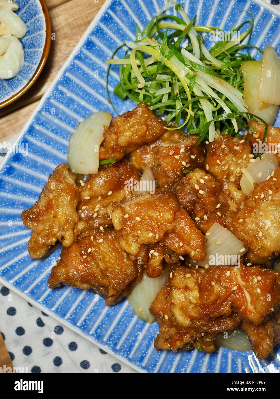 Sweet and sour chicken - Stock Image