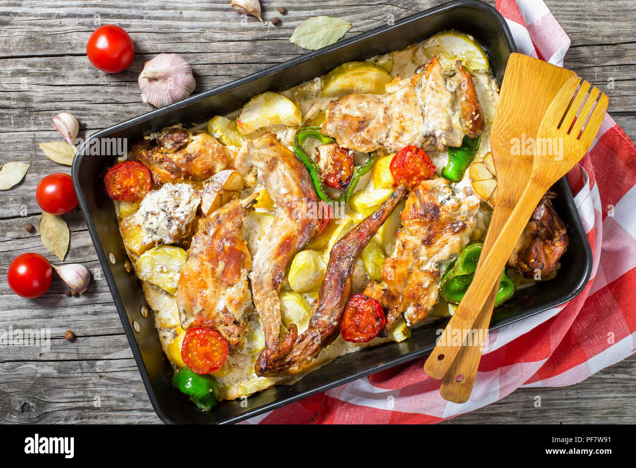 Rabbit in the oven in sour cream - tasty, fast, healthy 66