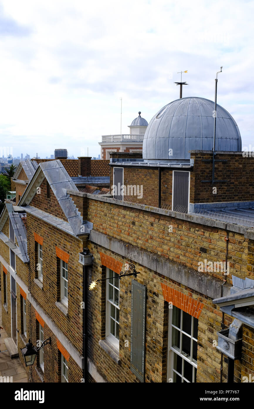 View from the roof of The Royal Observatory Greenwich London UK - Stock Image
