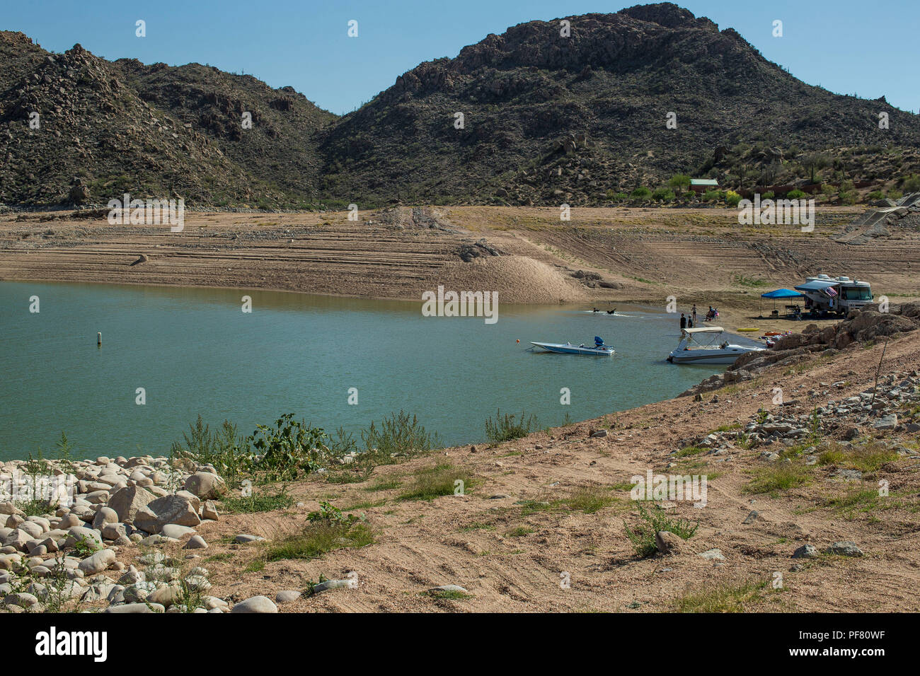 Named for BIll Bartlett, Government Surveyor. Formed by the damming of the Verde River in 1936-1939.. It's 33 miles long, is a popular recreation site - Stock Image