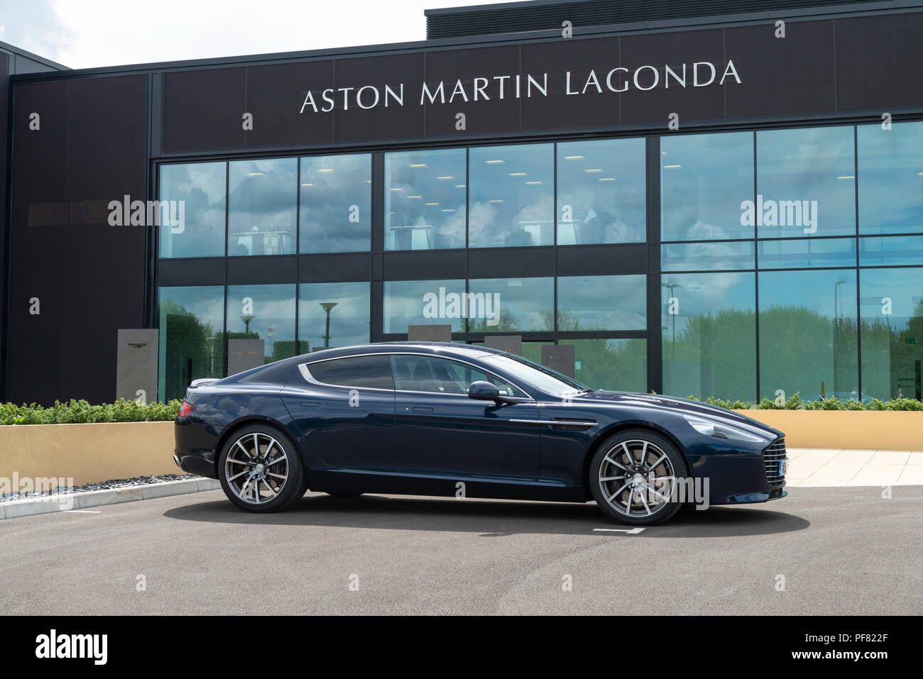An Aston Martin Rapide S Four Door Sports Saloon Car Photographed At - Aston martin four door