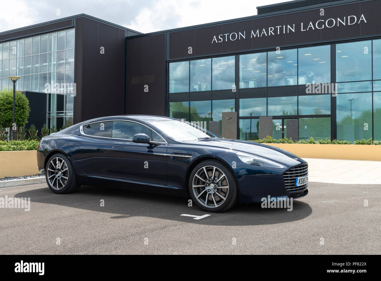 An Aston Martin Rapide S Four Door Sports Saloon Car Photographed At Aston Martin S New Production Facility At St Athan In The Vale Of Glamorgan Stock Photo Alamy