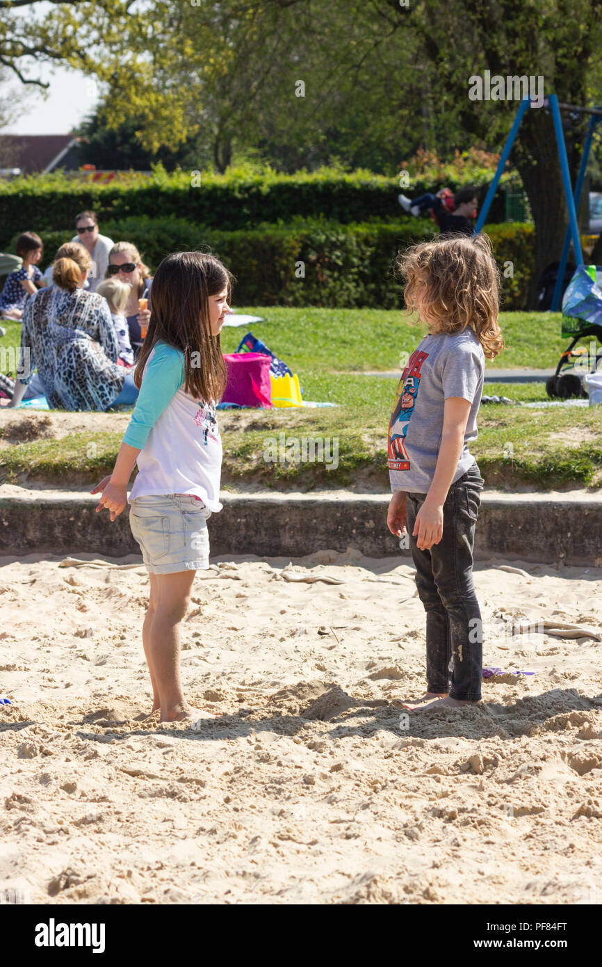 Sandpit Stand off - Stock Image