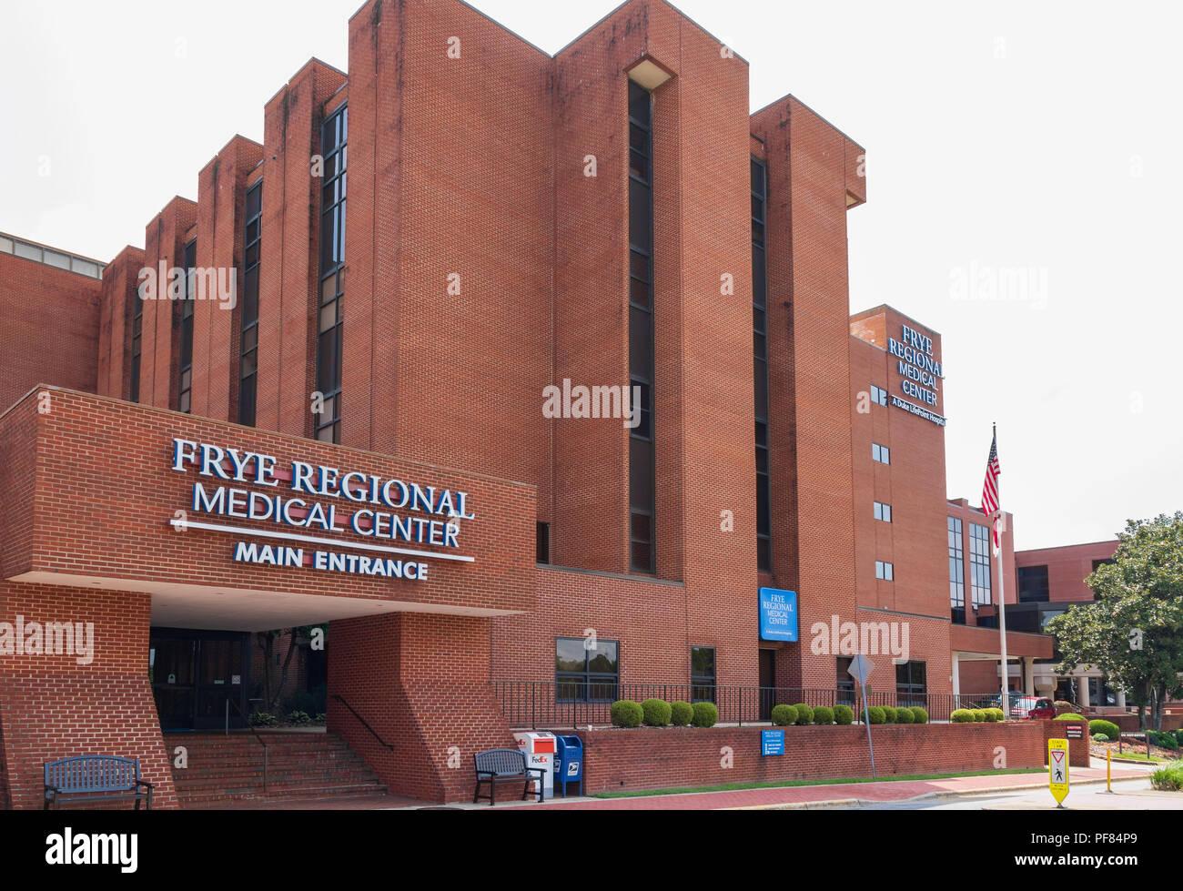 HICKORY, NC, USA-19 AUG  2018:Frye Regional Medical Center, a Duke