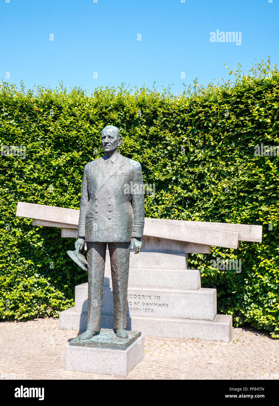 Danish King Frederik 9th Statue, Copenhagen, Zealand, Denmark, Europe. - Stock Image