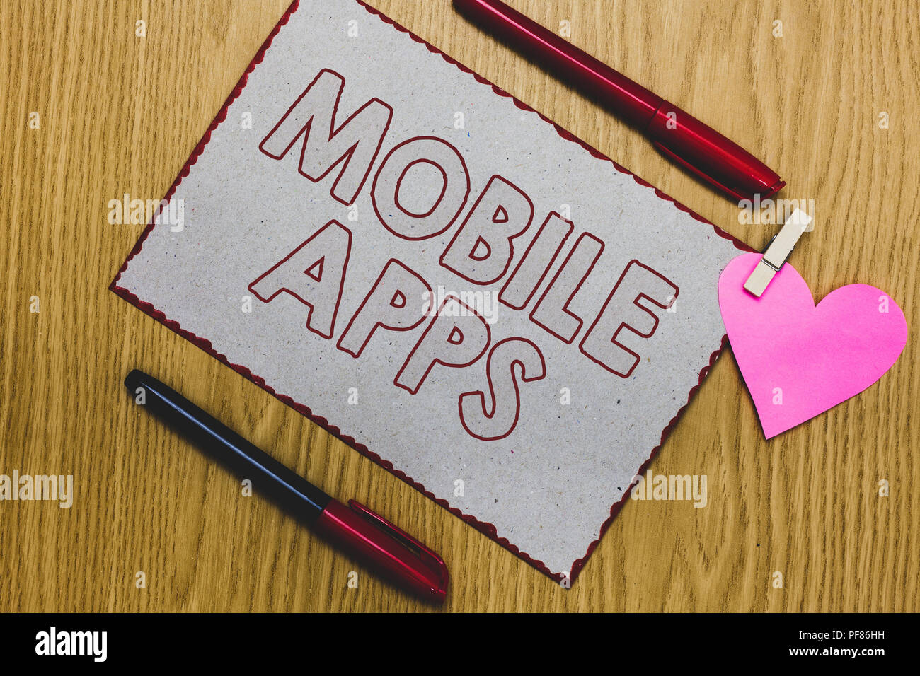 Handwriting text writing Mobile Apps  Concept meaning small