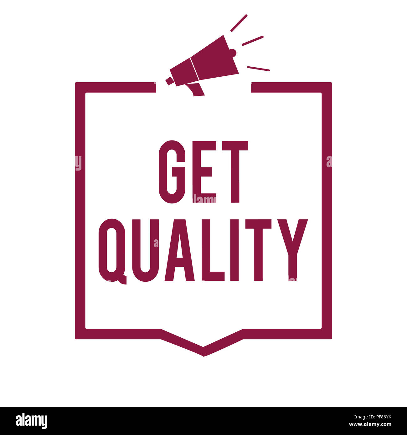 text sign showing get quality conceptual photo features and