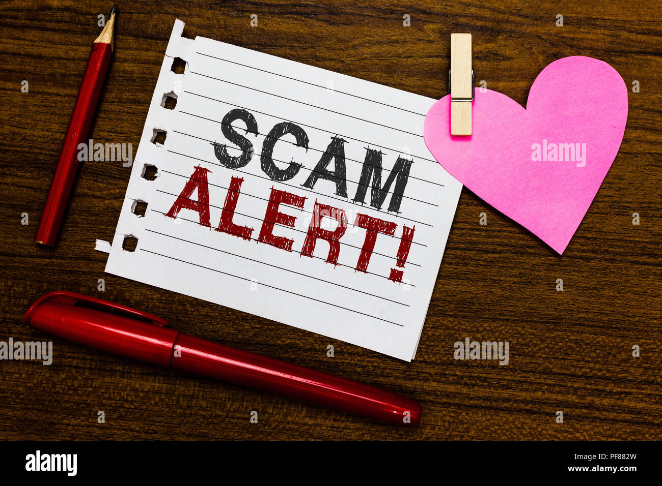 Word writing text Scam Alert. Business concept for warning