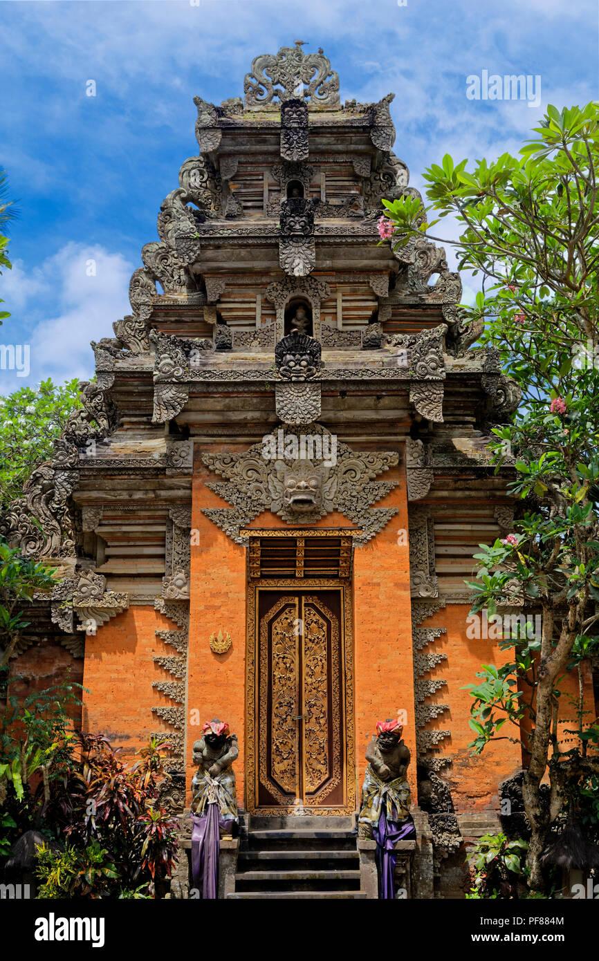 Entrance to Ubud Palace - Stock Image