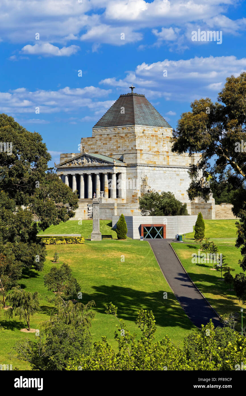 The Shrine of Remembrance, Melbourne - Stock Image